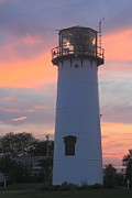 Chatham Posters - Chatham Lighthouse Tower Sunset Poster by John Burk