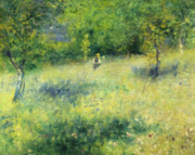 Springtime Painting Prints - Chatou After Renoir Print by Zeana Romanovna