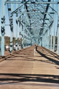 River Scenes Digital Art Prints - Chattanooga Walking Bridge Print by Jake Hartz