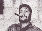 Justice Drawings - Che Guevara by Angel Roque