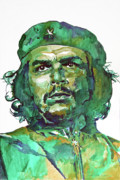Popular People Paintings - Che Guevara by David Lloyd Glover