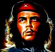 Revolutionary Framed Prints - Che Guevara Framed Print by Pamela Johnson