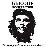 Folk Art Digital Art Posters - Che Man Poster by Robert Wolverton Jr