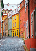 Cold Framed Prints - Cheb an old-world-charm Czech Republic town Framed Print by Christine Till