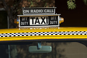 Fire Trucks Prints - Checker Taxi Cab Duty Sign 2 Print by Jill Reger