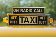 Fire Trucks Prints - Checker Taxi Cab Duty Sign Print by Jill Reger