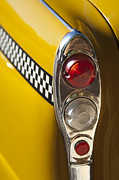 Fire Trucks Prints - Checker Taxi Cab Taillight Print by Jill Reger