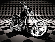 Bill Alexander Digital Art - Checkerboard Chopper... by Bill Alexander