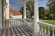 Estonia Framed Prints - Checkerboard Patio Framed Print by Jaak Nilson