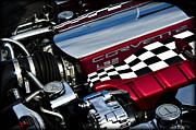 Custom Chevrolet Posters - Checkered Flag Poster by Ricky Barnard