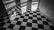 Chessboard Posters - Checkered Marble Floor Pattern Poster by Setsiri Silapasuwanchai