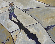 Sidewalk Paintings - Checkered Path by Sandy Tracey