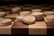 Board Game Photo Posters - Checkers II Poster by Tom Mc Nemar