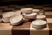 Board Game Photos - Checkers III by Tom Mc Nemar