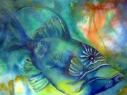 Fish Underwater Paintings - Checkin It Out by Cheryl Ehlers