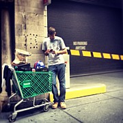 Midtown Art - Checkin The Phone #pitstop #midtown #nyc by Missy Lane