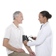 40-44 Years Posters - Checking Blood Pressure Poster by