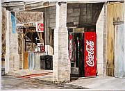 Coca Cola Painting Framed Prints - Checking Station Framed Print by Thomas Akers