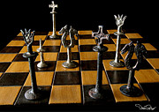 Chessboard Prints - Checkmate Print by David Salter