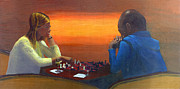 Chess Piece Painting Posters - Checkmate Poster by Peter Worsley