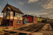 Signalbox Framed Prints - Cheddleton Signalbox and Depot Framed Print by David J Knight