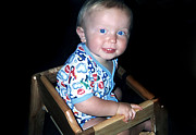 Highchair Posters - Cheeks Poster by Susan Stevenson