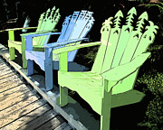 Sorbet Art - Cheerful Adirondacks by Michelle Wiarda