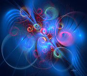 Apophysis Digital Art Prints - Cheerful Weekend Print by Jutta Maria Pusl