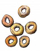 Breakfast Drawings Prints - Cheerios 2 Print by Nancy Mueller