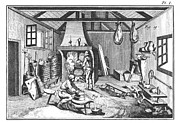 18th Century Photos - CHEESE-MAKING 18th CENTURY by Granger