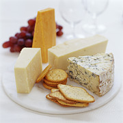 Cheeses Prints - Cheese Selection Print by David Munns