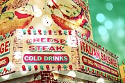 Blue Cheese Framed Prints - Cheese Steak Carnival Food Vendor Framed Print by Eye Shutter To Think