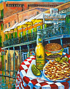 New Orleans Painting Prints - Cheeseburger in Paradise Print by Dianne Parks