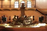 Greek Sculpture Prints - Cheesecake Factory Fountain Print by David Dunham