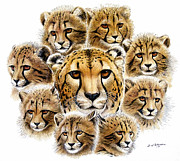 Cheetah Painting Prints - Cheetah  Print by Dag Peterson