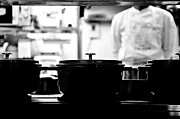 Pans Prints - Chef Print by Dean Harte