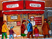 Montreal Paintings - Chef In The Window by Carole Spandau