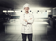 Chef Hat Prints - Chef Portrait Print by Gualtiero Boffi