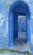 Blue House Framed Prints - Chefchaouen 2 Framed Print by Kenton Smith