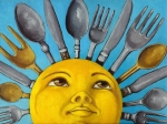 Realism Painting Originals - Chefs Delight - CBS Sunday Morning Sun Art  by Linda Apple