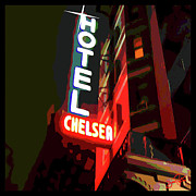 Rock And Roll Art Painting Originals - Chelsea Neon by Jann Paxton