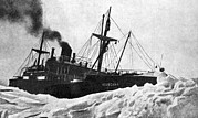 Sea Ice Prints - Chelyuskin Steamship Trapped In Ice, 1933 Print by Ria Novosti