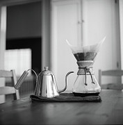 Vallejo Prints - Chemex And Kettle Print by Copyright Ricky G. Brown 2011