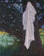 Cottonwood Paintings - Chemise on Tree by Robert Bissett