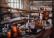 Chem Framed Prints - Chemist - The Still Framed Print by Mike Savad