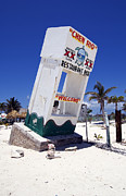Caribbean Prints - Chen Rio Beach Bar Sign Cozumel Mexico Print by Shawn OBrien