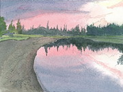 Nights Originals - Chena River Sunset - 1 by Joel Deutsch