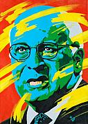Politics Paintings - Cheney by Dennis McCann