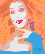 Keaton Digital Art - Cher by John Keaton