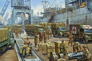 Ww2 Painting Posters - Cherbourg 1940. Poster by Mike  Jeffries